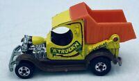 "Vintage 1977 Mattel Hot Wheels ""A"" Truck'n Dump Truck Yellow Red Diecast Metal"