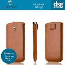 Issentiel Paris - Genuine Leather Pouch Case for Samsung Galaxy S4 - Tan Brown