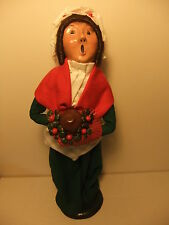 Byers' Choice Carolers Collection 1986 Mrs. Cratchit w/ Holly Berry Bouquet