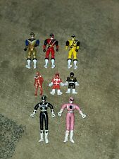 MIGHTY MORPHIN POWER RANGERS plastic & BENDABLE FIGURES LOT OF 8 MMPR 1995