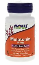Melatonin Melatonine 5 MG 60 vegetarisch Kapseln Now Foods