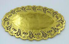 """Gold Oval Foil Paper Lace Doilies size: 6.5"""" x 9"""" (16cm x 23cm) Party Wedding"""