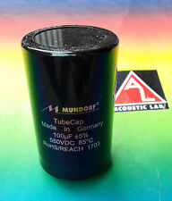 1 x MUNDORF Tube Cap (R) 100µf Electrolytic capacitor for tube amps
