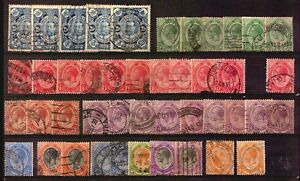 SOUTH AFRICA EARLY USED STAMPS LOT COLLECTION POSTMARKS KEY VALUES ETC CANCEL