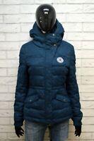 CONVERSE Giubbotto Donna Size S Giubbino Giacca Jacket Piumino Blu Woman Bomber