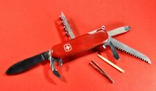 """WENGER""   RED MULTI-TOOL FOLDING POCKET SWISS ARMY KNIFE c.1970's"