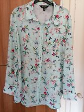 BEAUTIFUL LIPSY MINT GREEN FLORAL BLOUSE SIZE 18