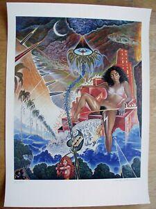 Kunstdruck Mati Klarwein DMZ Format 70 x 100 cm signiert und nummeriert