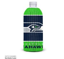 Seattle Seahawks Fabric Bottle Cooler NFL Football Knit