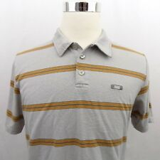 Oakley Multi-Color Striped Men's Size Large Short Sleeve Casual Polo Shirt