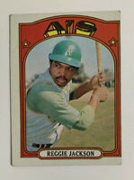 1972 Topps Reggie Jackson # 435 Baseball Card Oakland Athletics A's HOF
