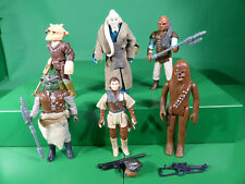 KENNER Star Wars vintage action figures x6 + Weapons-lot4