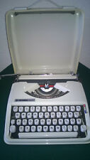 VINTAGE GREY  COLOR  1970s TYPEWRITER HERMES BABY  WITH  CASE