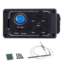 Acoustic Guitar Pickups 4-Band EQ Tuner Preamp Piezo Pickup for Travel Guitar