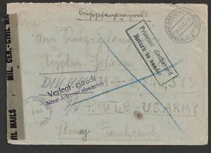POW Kriegsgefangenenpost 1946 , versch. Stempel , Zensur , Altenmarkt > Stenay