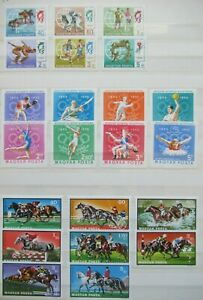 EARLY LOT HUNGARY MAGYAR POSTA SPORT OLYMPIC GAMES VF MNH B349.26 START $0.99