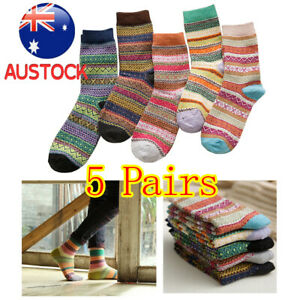 5X Men/Women Cotton Socks One Size Funky Colourful Sox Novelty Crew Casual Party