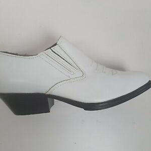 Amazonas Womens White Ankle Cowboy Boots Sz 38