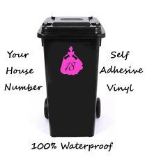 Número Personalizado De Princesa Wheelie Bin/Caja De Reciclaje/número de casa adhesivo