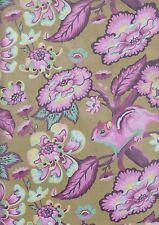 Chipper Raspberry Chipmunk FQ - 100% cotton quilting fabric- 50 x 55 cms