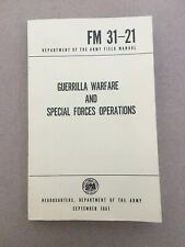Guerrilla Warfare Special Forces Operations Field Manual 1961 Army FM 31-21