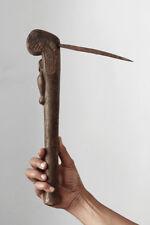Old ceremonial axe Luba or Tabwa, with human figure, Congo