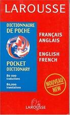 French-English / English-French Dictionary (Larousse Dictionnaire de poche,...