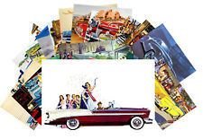 24 Postkarten Set * Classic Cars Retro Werbung Vintage Fifties Plakat CD3002