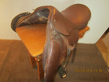 "EQUESTRIAN, ""ENGLISH"", LEATHER RIDING SADDLE"