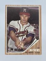 1962 Topps Baseball Card Ed Mathews HOF Milwaukee Braves NM