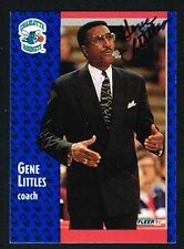 Gene Littles #22 signed autograph auto 1991-92 Fleer Basketball Trading Card