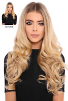 """LullaBellz Super Thick 20"""" 1 Piece Curly Clip In Hair Extensions"""