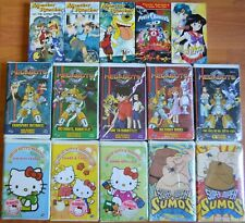 Wholesale Lot of 15 New Anime VHS For Kids Hello Kitty Sailor Moon Power Rangers