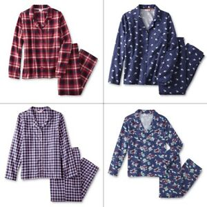 NEW Plaid Flannel Pajamas Size XL Women 16-18 100% Cotton Red Checker Winter NWT
