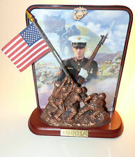 NICE USMC USA MARINES IWO JIMA Bradford Exchange Jim Griffin Collectible Plate !