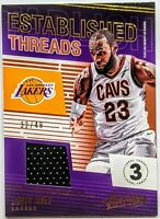 LeBron James 2018-19 Panini Absolute Established Threads Level 3 /49 HOT🔥👑RARE