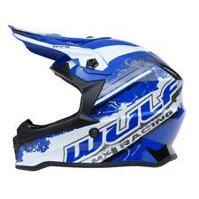 Wulfsport Kinder Cross Helm Off Road Pro XL 53-54 blau Motorrad Quad Bike MX BMX