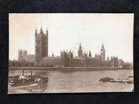 Vintage Real Photo Postcard #TP1692: London Houses Of Parliament