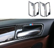 4x Real Carbon Fiber Trim For BMW X5 X6 2008 2012 2013 Inside Door Handle Cover