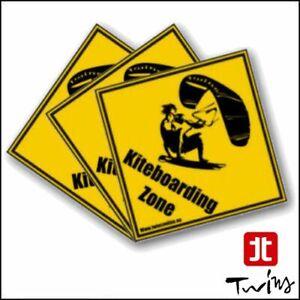 Set 3 adesivi Kiteboarding Zone Kite Surf Kitesurf adesivo tavola 10cmx10cm