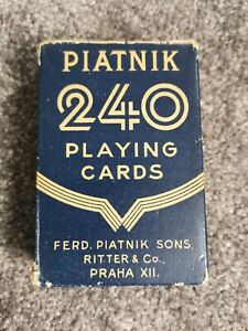 Piatnik 240 Playing Cards Boxed And Complete 1940