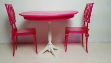 Barbie Dining Table Pink Furniture Mattel Doll House Living One sixth scale