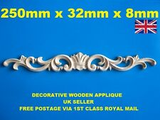 FURNITURE APPLIQUE SHABBY CHIC WOODEN DECORATIVE FURNITURE ONLAY MOULDING DRAWER