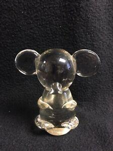 Australian Glass Koala Statue Paper Weight Fine Art Desk Toy Koala Bear Glass