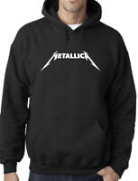 Metallica Metal Rock Band Logo Unisex Hoodie Adult Sizes S-XL - Black