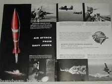 1955 Grumman 2-page advertisement, S2F Submarine Hunter-killer, GRUMMAN Aircraft