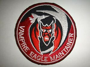 USAF 44th Tactical Fighter Squadron F-15 VAMPIRE EAGLE MAINTAINER Patch