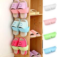 Home Wall-Mounted Stick Shoe Hanging Storage Shelf Organizer Rack Hanger Holder