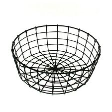 Country Vintage Style Gathering Round Metal Wire Fruit Basket with Handle