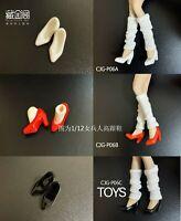 """CJG-P06 1:12 High Heels Shoes Fit 6"""" Female Phicen TBLeague JO Action Figure"""